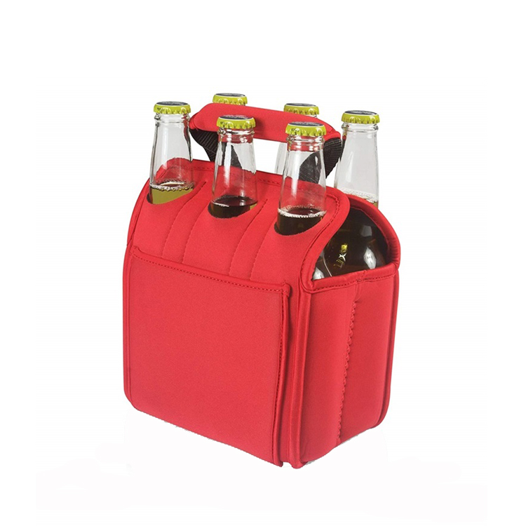 Neoprene 6 Pack Can Tube Cooler Carrier Bag For Picnic