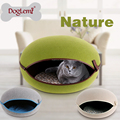 Nature Felt Dog Pet Kennel House Cat Cave Nature Egg Shape Cozy Pet Cave