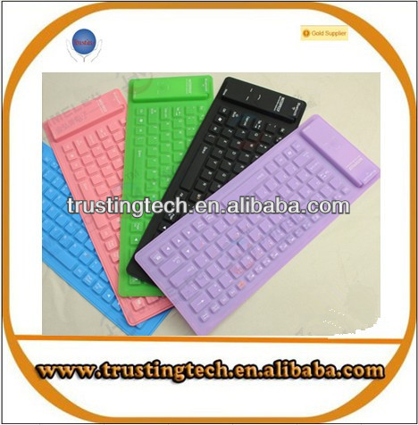 factory direct selling wireless bluetooth silicone keyboard keypad for smart phone computer notebook laptop