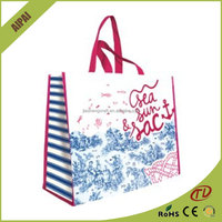 OEM Production Recyclable laminated PP Non Woven Bag foldable shopping bag