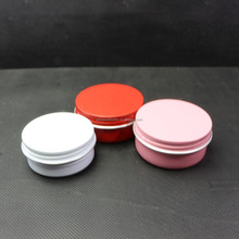 10g decorative tins aluminum containers with pink metal can AJ-138RI