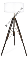 Vintage Wooden Floor Standing Lamps tripod floor lamp