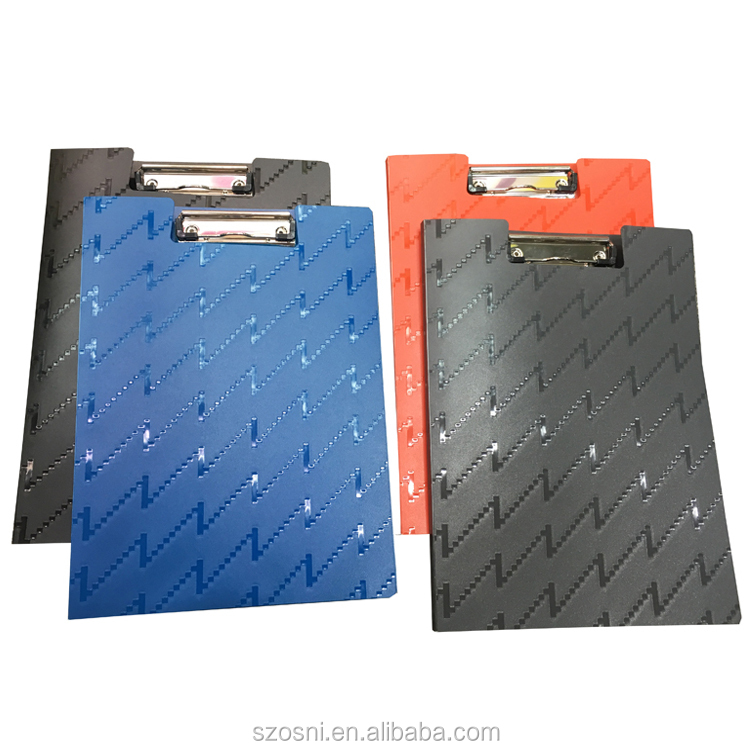New good desig plastic A4 PP folding clipboard file folder with cover