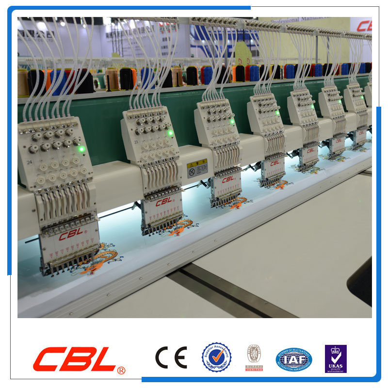 The newest 9 needle 24 head flat computer embroidery machine price