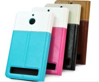 Wholesale manufacture leather flip case cover for sony E1factory price