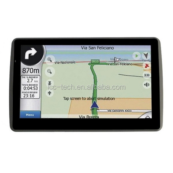 Touch screen car gps navigator 5 inches,FM Transmit frequency 76~108 MHz