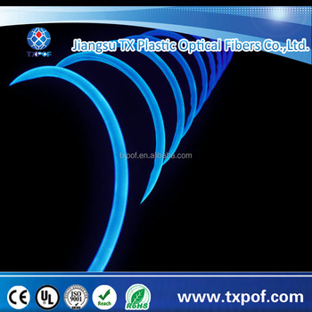 Diameter 6mm Side Glow Optical Fiber 100M Side Emitting Fiber Solid Optical Fiber