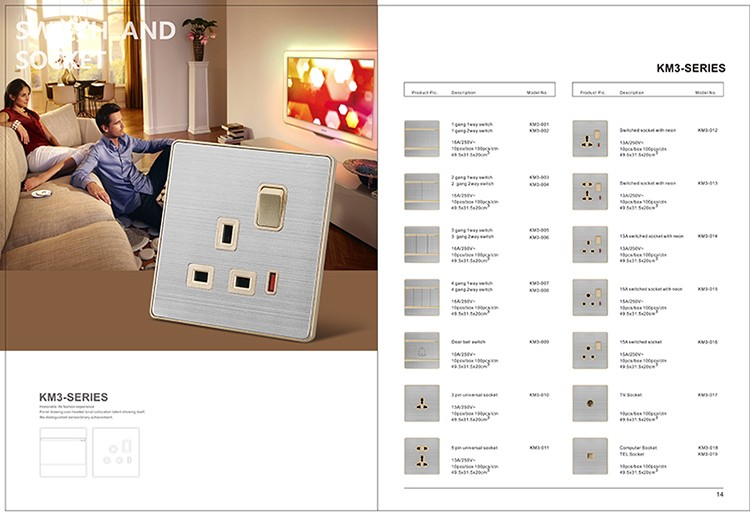 UK standard modern electric floor table socket