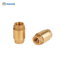 Brass casting valve inner and outer wire vertical spring check valve backflow preventer non return valve