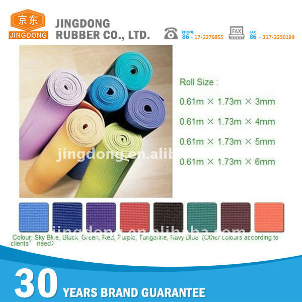 Hot sale new products training thick yoga mat material rolls