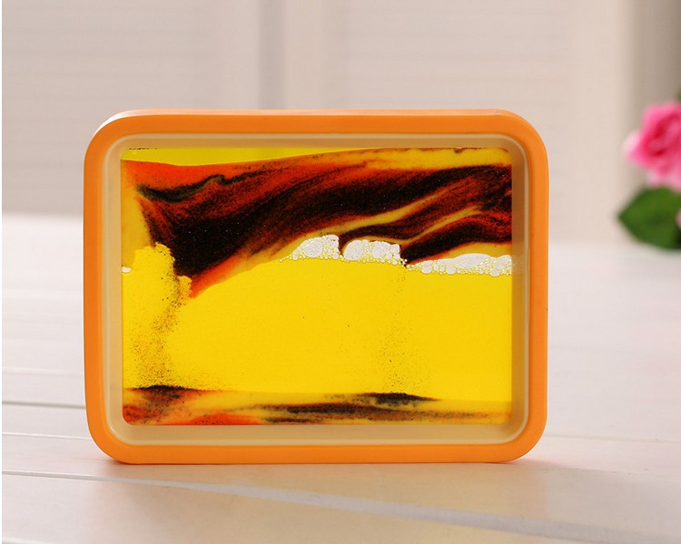 Sand Painting pictures in orange outer frame
