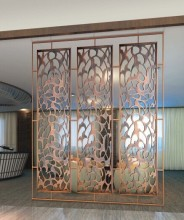 commercial design slap-up decorative room divider metal screen partition