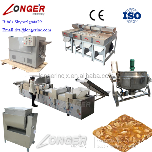 Hot Sale Peanut Brittle Production Line Price/Sesame Candy/Cereal Bar Making Machine