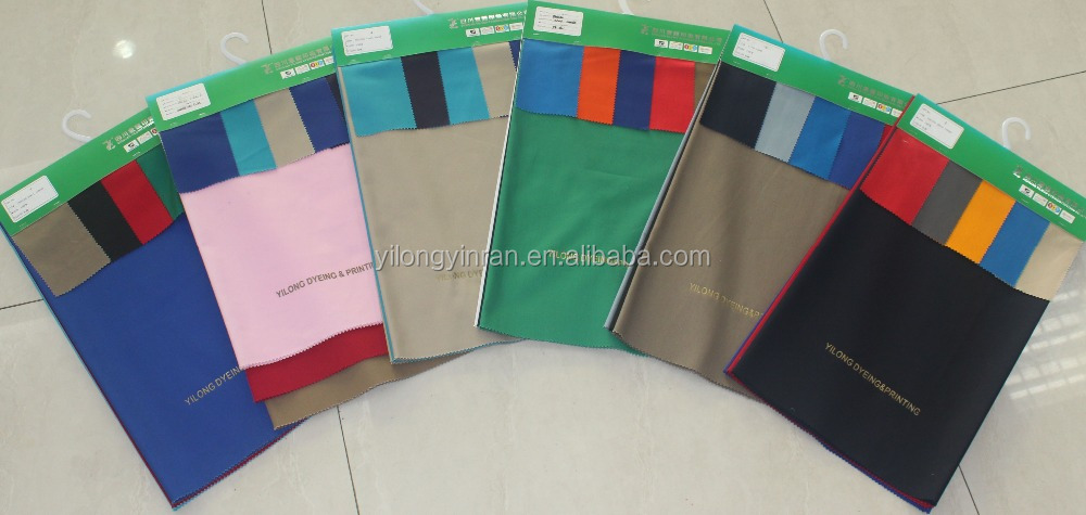T65/C35 Polyester/Cotton blended workwear fabric dyed with any customized color