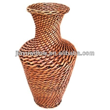 wicker basket set decoration vase