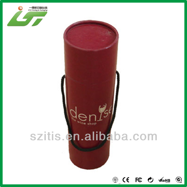 Luxury cardboard cylindrical wine box customized