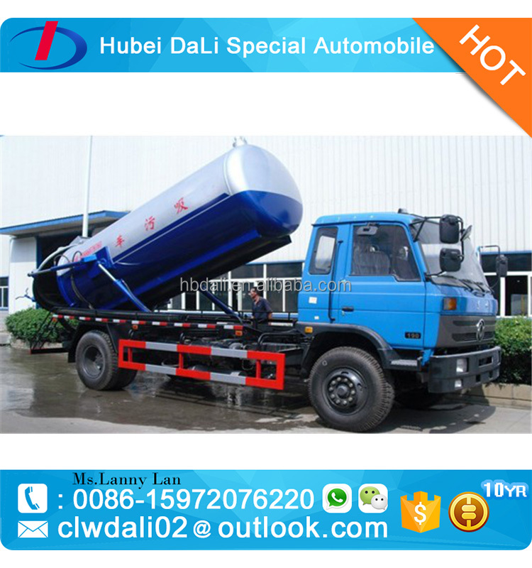 10CBM sewage vacuum truck, sewage tanker transport truck for sewage waste water transportation