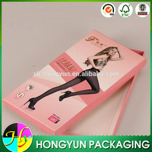 Custom logo printed packing paper box packaging for pantyhose