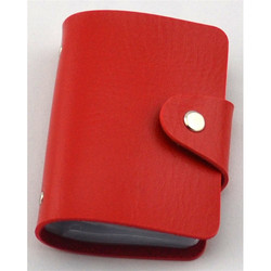 Popular leather credit card holder set with gift box packing