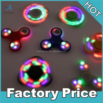 Stress Relief Kids Adults Hand Spinner plastic game Toy Creative LED Fidget Spinner