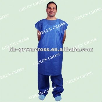 Opaque Blue SMS Super Soft Traditional Patient Gown