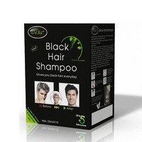 Sachet and Bottle packing hair dye shampoo for indian hair with herbal extracts