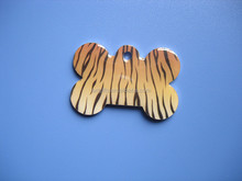 Cute Personalised Animal Print Pet Dog Name ID Tag Pet Tags - Tiger