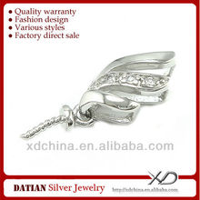 XD E011 925 sterling silver 3 petals jewelry pendant mounts for jewelry
