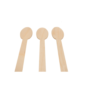 Wooden disposable spoon easy to decompose one time