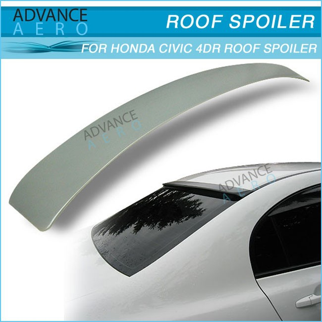 ABS Rear Roof Spoilers for 2006 2007 2008 2009 2010 2011 Honda Civic 4Dr Sedan