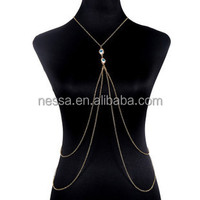 wholesale gold sexy body chain necklace wholesale NSNK-34532