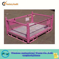 Low price foldable wire mesh metal box of high quality,storage container