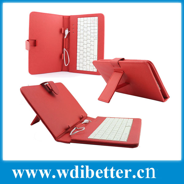 7 inch/8 inch/ 9.7 inch/10.1 inch tablet pc MID leather case cover with USB keyboard