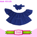 Wholesale Monogram Blanks Clothes For Newborns Girl Children Boutique Clothing Spring Summer 2017 Baby Off The Shoulder Crop Top