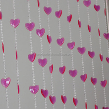 Hanging Doorway Beaded Curtains Iridescent Heart Beads Curtains