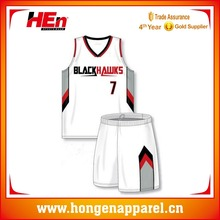 League Adult Basketball Wear, Bright Color Basketball Top For Sports Team