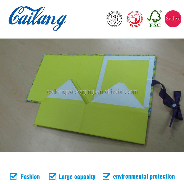 Custom new product gift packaging paper box collapsible box with magnet folding style with magnets
