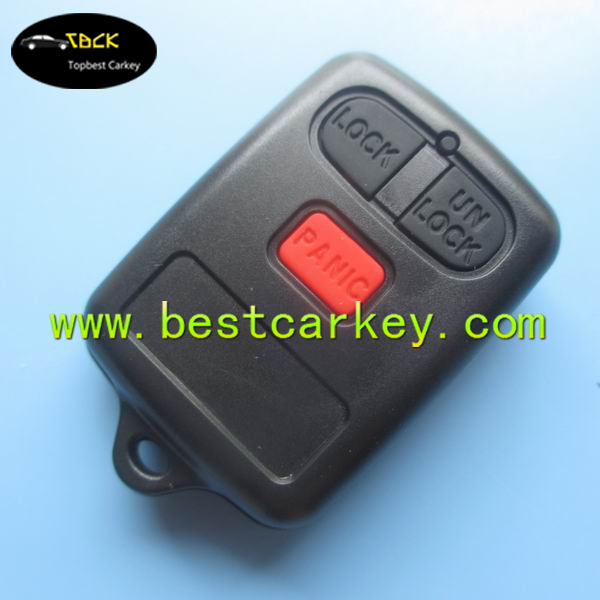 Topbest custom key blanks wholesale with 3 buttons car key remote case