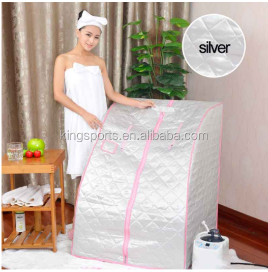 Inflatable one person portable steam sauna individual