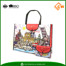 Wholesale cheap shopping bags reusable and foldable fabric shopping bag