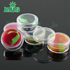 Clear insert plastic silicone lined container custom slick bho oil container small 5ml silicone jars dab wax container