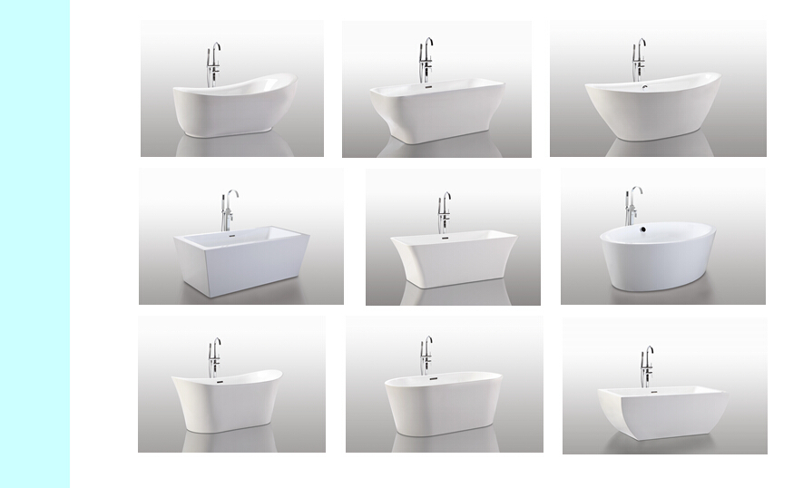 2017 Exquisite Hangzhou Top Sale Sanitary Ware Products Ideal Acrylic Freestanding Bathtub for JS-6311