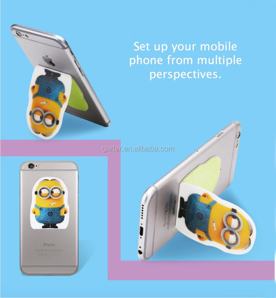 2017 new design multiple recycling magic sticker cell phone mobile phone car holder