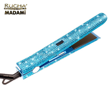 Brand-new bling rhinestone hair straightener flat iron with gorgeous crystal shine