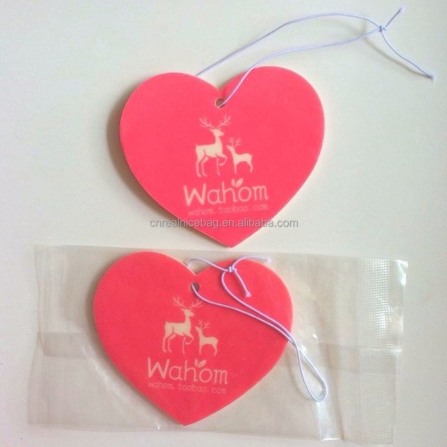 custom heart shaped good scent paper car air freshener,eco air freshener packaging,high quality car air freshener card