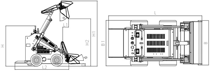 CE Approval mini skid steer loader 380 YFL380