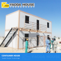 Dubai Stackable 40 Ft Feet Sandwich Container low cost prefab container house With Bathroom