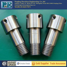 Customized cnc stainless steel rod with thread <strong>holes</strong> from Nanjing