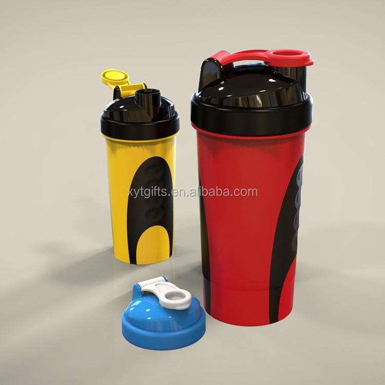 Sport protein shaker,plastic gym water energy drink bottle