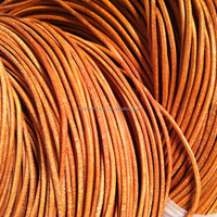 Real Cowide Leather Cord Nature Color